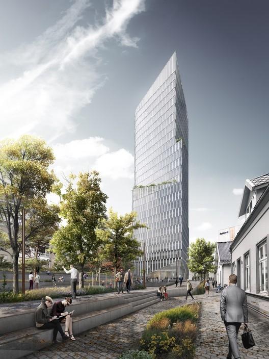 Schmidt Hammer Lassen gana concurso para diseñar rascacielos de uso mixto en Noruega, © Schmidt Hammer Lassen Architects