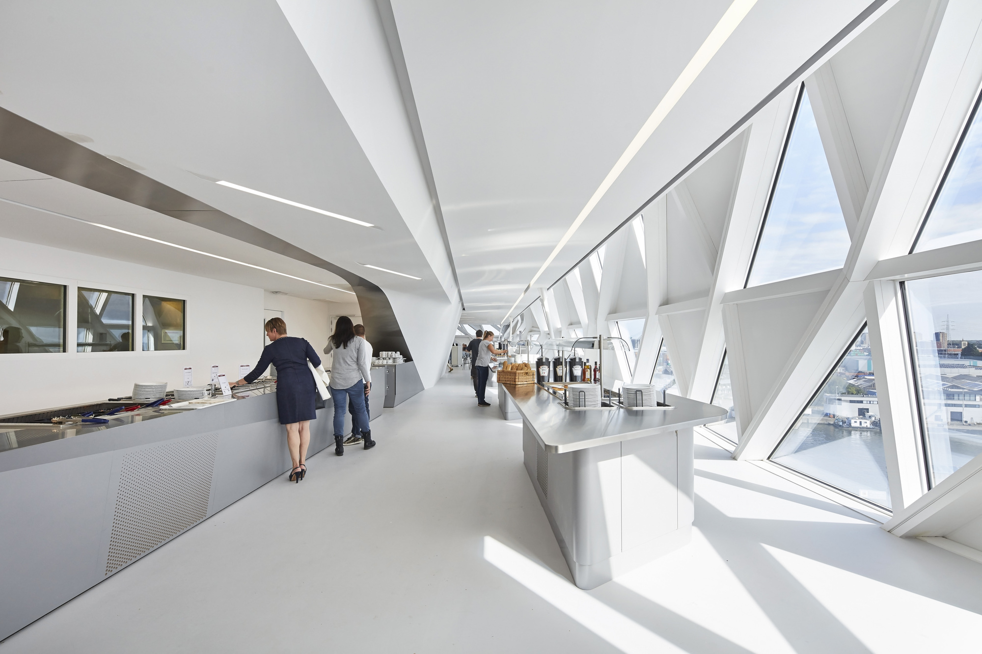 Gallery of antwerp port house zaha hadid architects 17 for Office design zaha hadid