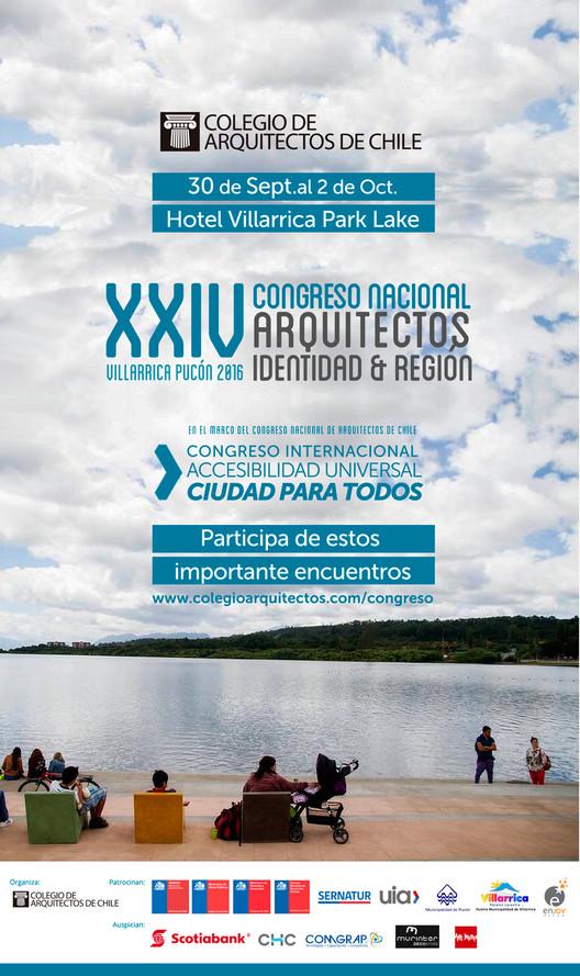 """XXIV Congreso Nacional de Arquitectos y Congreso Internacional """"Ciudad para  Todos"""" UIA / Chile"""