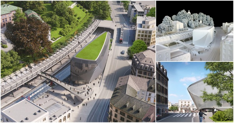 Santiago Calatrava projeta edifício corporativo integrado à estação Stadelhofen em Zurique, © Calatrava Valls SA
