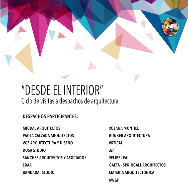 """Visitas a despachos de arquitectura: """"Desde el Interior"""" / Ciudad de México, Design Colectivo"""