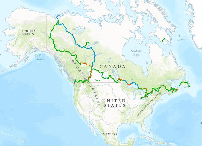 Canadá tendrá una ruta libre de autos de 24 mil kilómetros, © Fuente: thegreattrail.ca