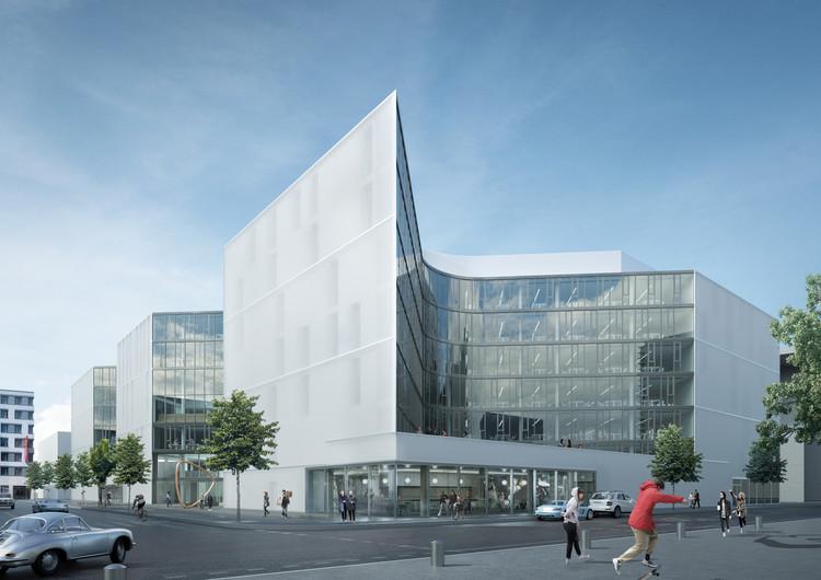 A Groundbreaking Ceremony in Berlin for HENN Architect's Zalando Headquarters , Courtesy of HENN Architects
