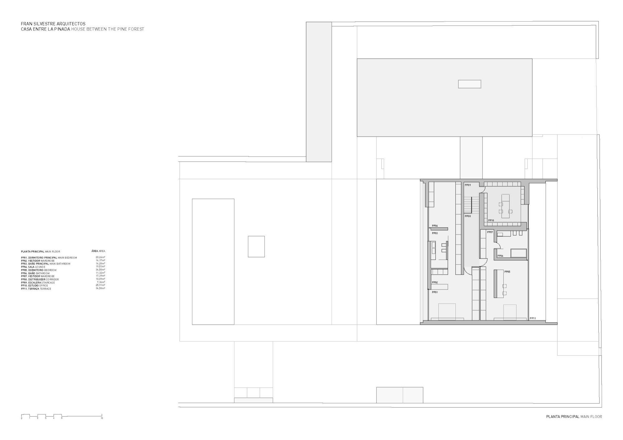 gallery 1 with 57e94389e58ecedcfd000045 La Pinada House Fran Silvestre Arquitectos Plan on Image009 likewise Knk299 00 together with 54f14dcae58ece7e10000231 Second Floor Plan in addition Angelineantigua additionally 53290280c07a8006ff00006f Dragon Court Village Eureka Detail Section.