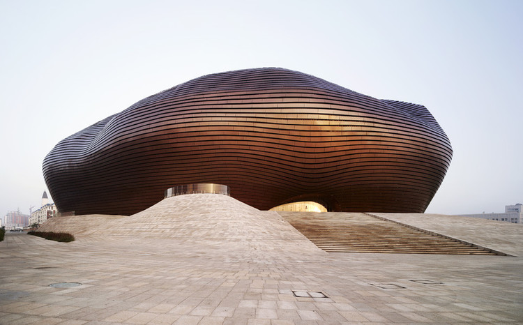 "Videos: 16 Top Architects Discuss China's ""Museum Boom"", Ordos Art & City Museum / MAD Architects. Image © Shu He"
