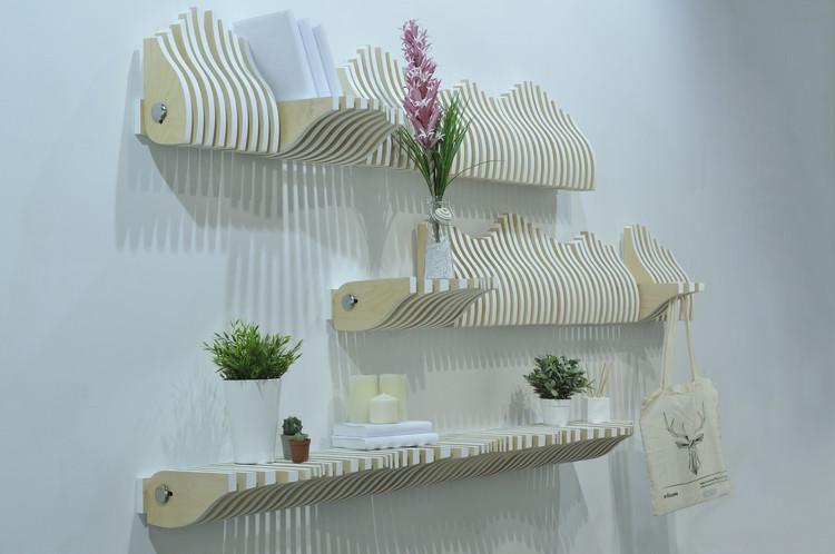 Köllen, estante dinámico y adaptable de estilo nórdico, © Rafael Campillo