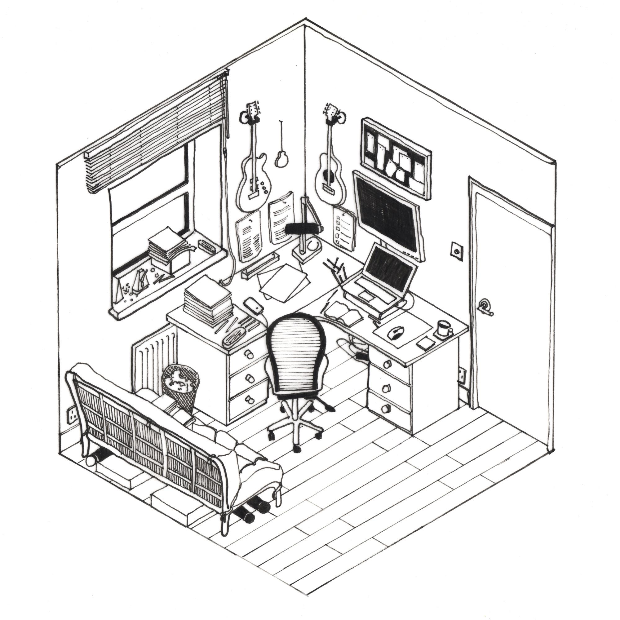 Galería de 42 croquis, dibujos y diagramas de espacios de