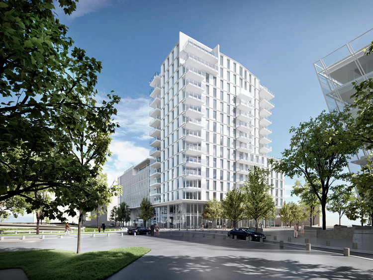 Richard Meier & Partners Designs Waterfront Mixed-Use Building in Hamburg, © bloomimages