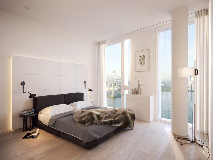 Schlafzimmer Hamburg richard meier partners designs waterfront mixed use building in