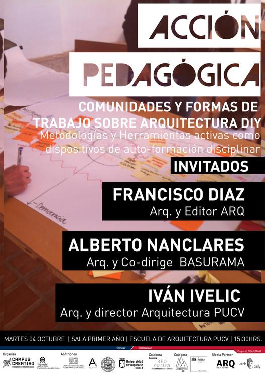 Acción Pedagógica: comunidades y formas de trabajo sobre arquitecturas complejas DIY / Valparaíso, diseño: Rocio Camacho