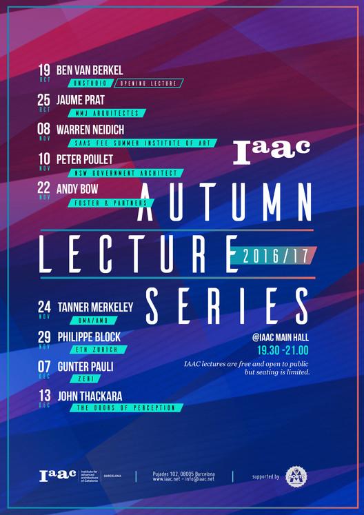 IAAC Fall Lecture Series 2016/17 en Barcelona
