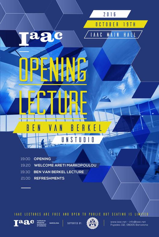 Ben van Berkel - IAAC Opening Lecture 2016/17 en Barcelona