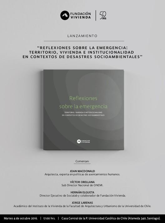 """Lanzamiento Libro """"Reflexiones sobre la Emergencia"""" / Santiago, Fundación Vivienda"""