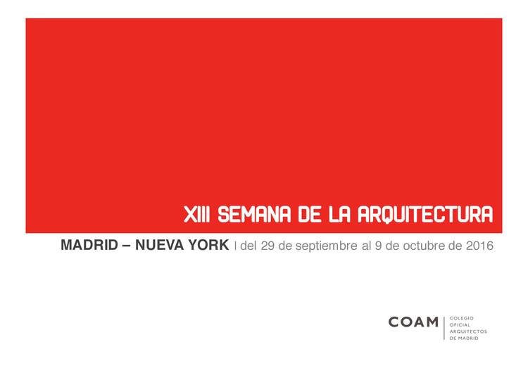 Inauguración oficial XIII Semana de la Arquitectura de Madrid