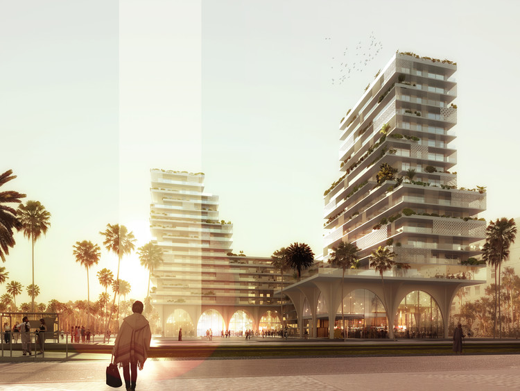 Hamonic+Masson & Associés Envisions a New Casablanca When Redesigning its Financial District, © Luxigon