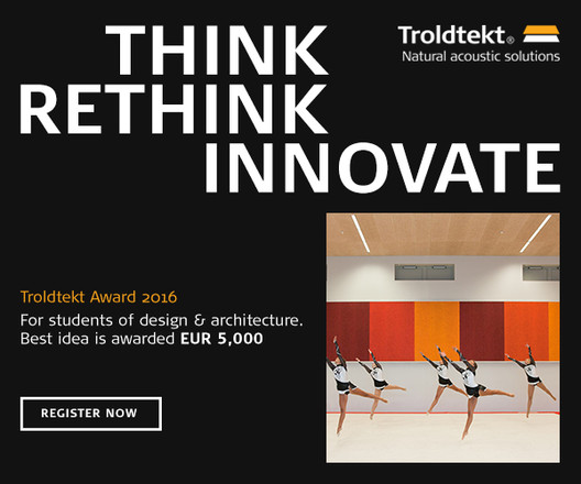 Register Now for Troldtekt® Award 2016, Courtesy of Troldtekt