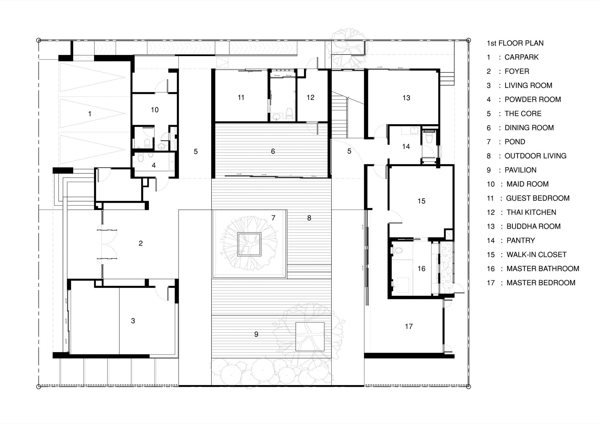 Wind house openspace design first floor plan