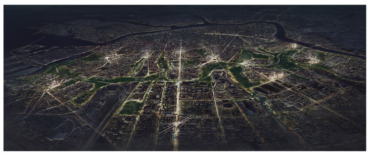 """4000 Shades of Green: Transborder Studio's Redesign Proposal for the """"Grey Belt"""" in St. Petersburg, The Grey Belt. Image © Tegmark and Transborder Studio"""