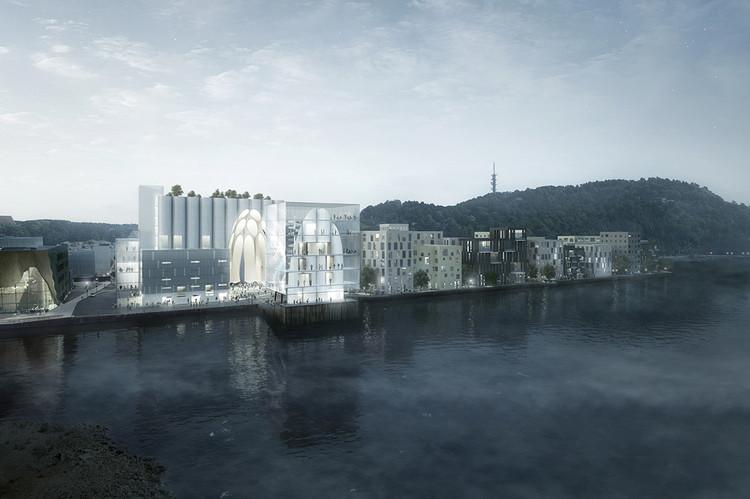 La propuesta de RSAA preserva y modifica un silo histórico en Noruega, Cortesía de RSAA