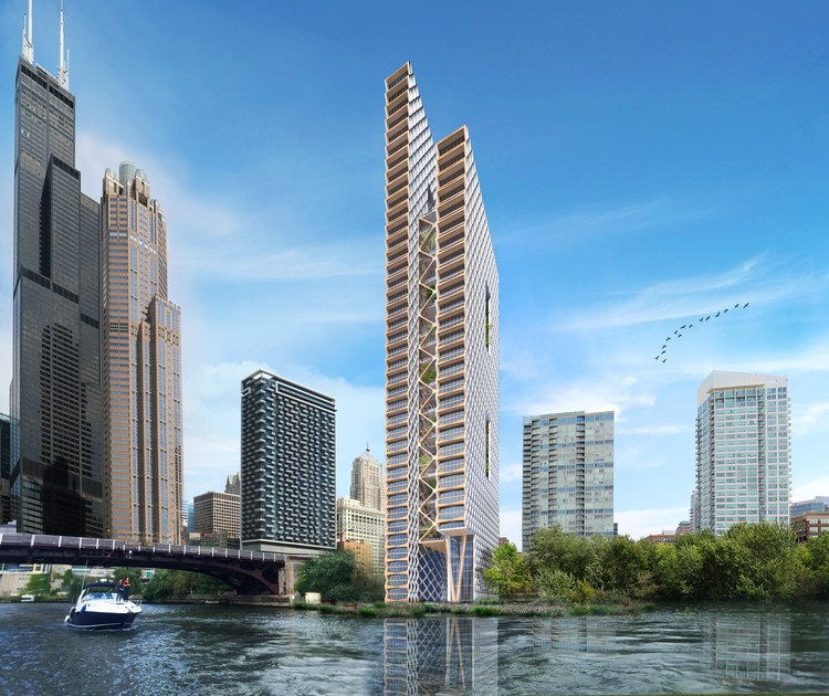 The Tallest Timber Tower Yet: Perkins + Will's Concept Proposal for River Beech Tower
