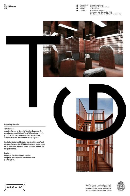 Clase Magistral Toni Girones , Afiche diseñado por Trinidad Sanchez