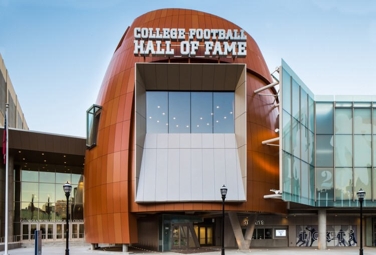 College Football Hall of Fame / Tvsdesign, © Shawn Brasfield
