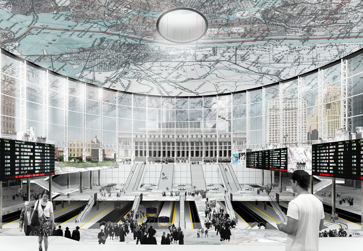 Penn Station Palimpsest: PAU Proposes a Different Future for New York's Busiest Railway Station, Courtesy of PAU