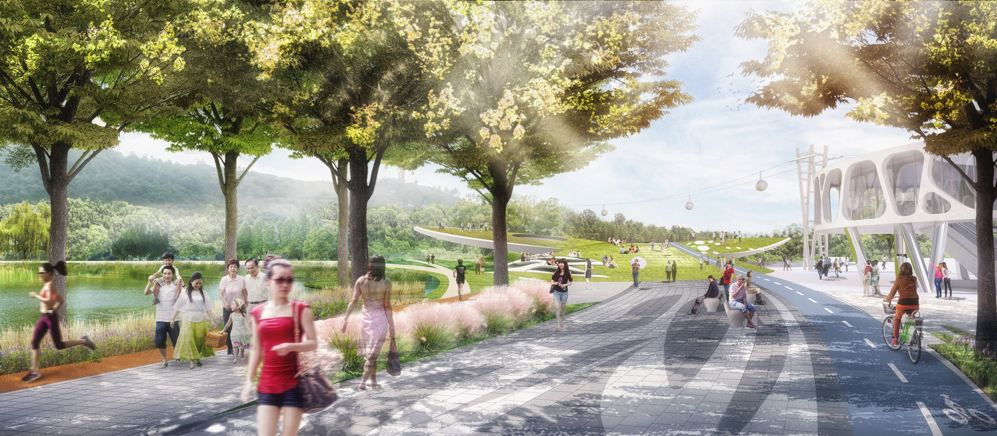 gallery of urban ecosystem design named winner of lion mountain park competition