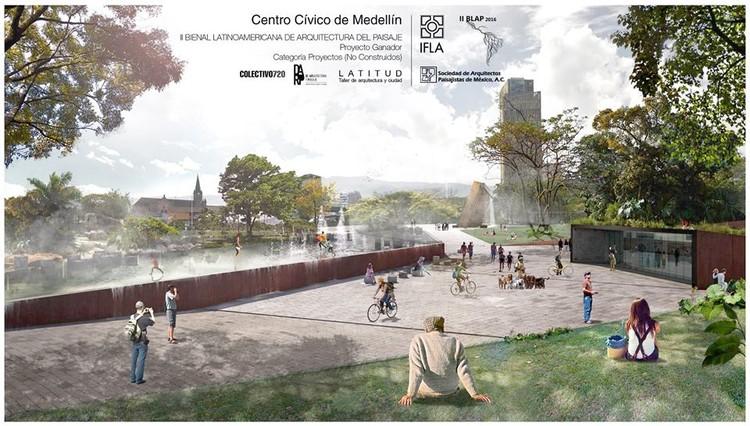 Tres oficinas colombianas son premiadas en la II Bienal Latinoamericana del Paisaje, Centro Cívico de Medellín. Image vía Fan Page Latitud, Taller de Arquitectura y Ciudad