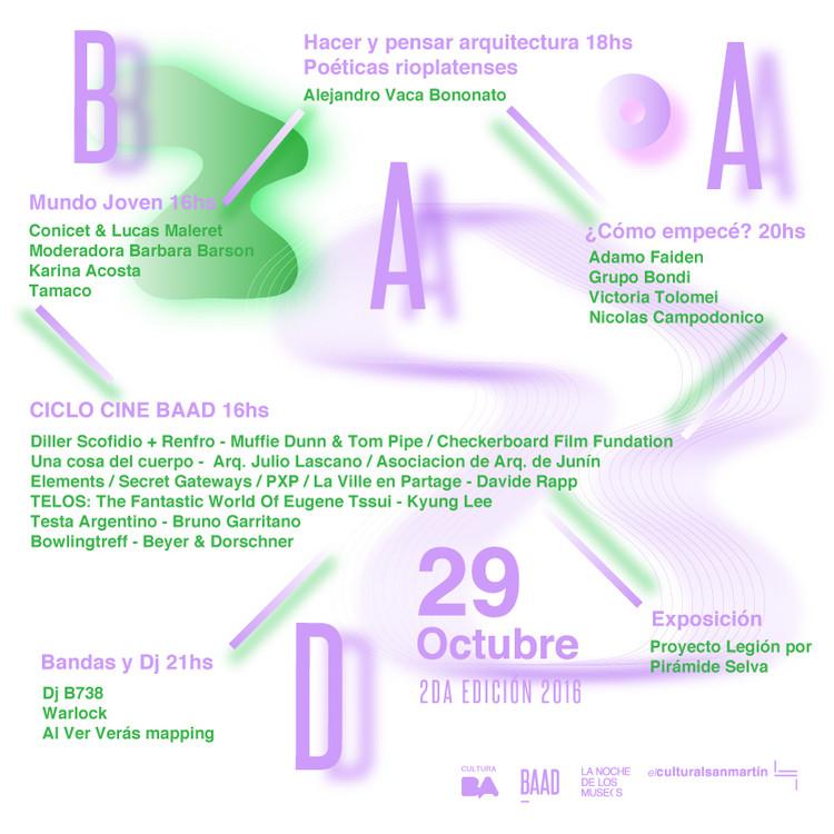 Festival BAAD: Buenos Aires Arquitectura y Diseño / Centro Cultural San Martin, El 29 de Octubre se llevará a cabo por segunda vez el Festival BAAD – Buenos Aires Arquitectura y Diseño