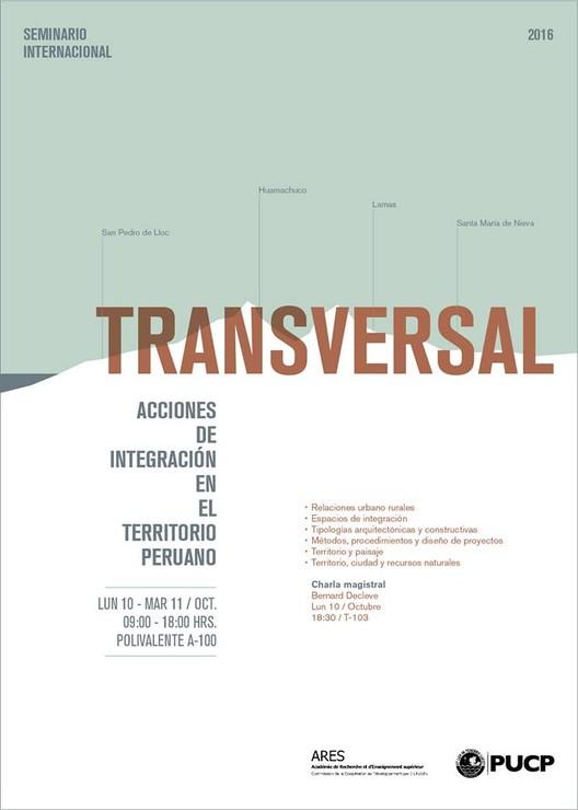 Seminario internacional 'Transversal, acciones de integración en el territorio peruano' / PUCP, vía Agenda PUCP