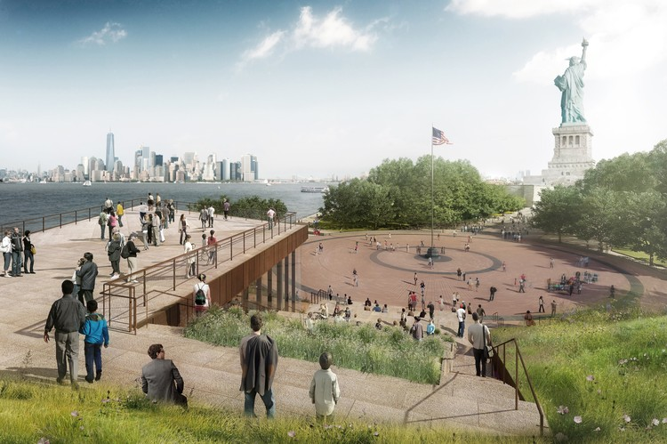 FXFOWLE Breaks Ground on New Statue of Liberty Museum , Courtesy of FXFOWLE