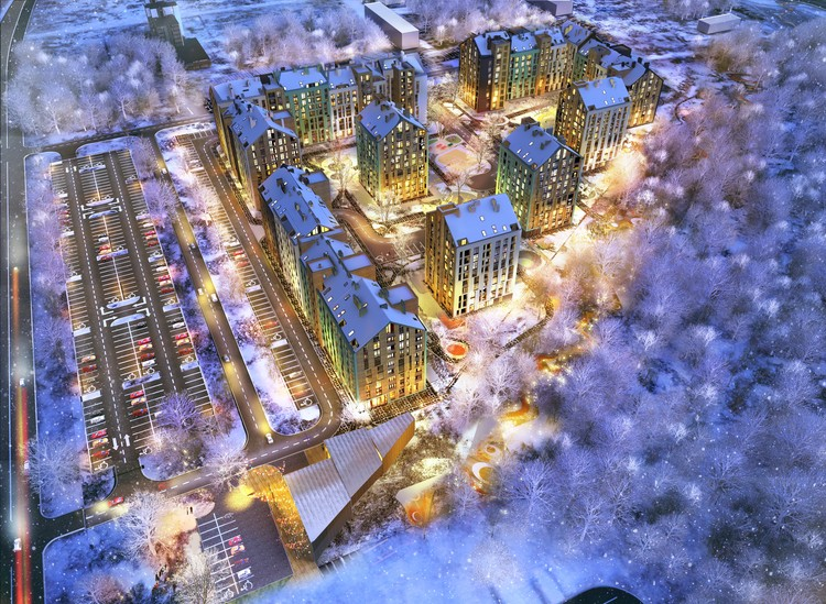 Archimatika Architects Unveils Lively Plans for New Ukrainian Housing Project, Courtesy of Archimatika Architects