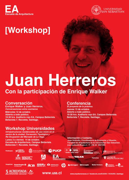 Juan Herreros lidera workshop y realizará serie de conferencias en Santiago