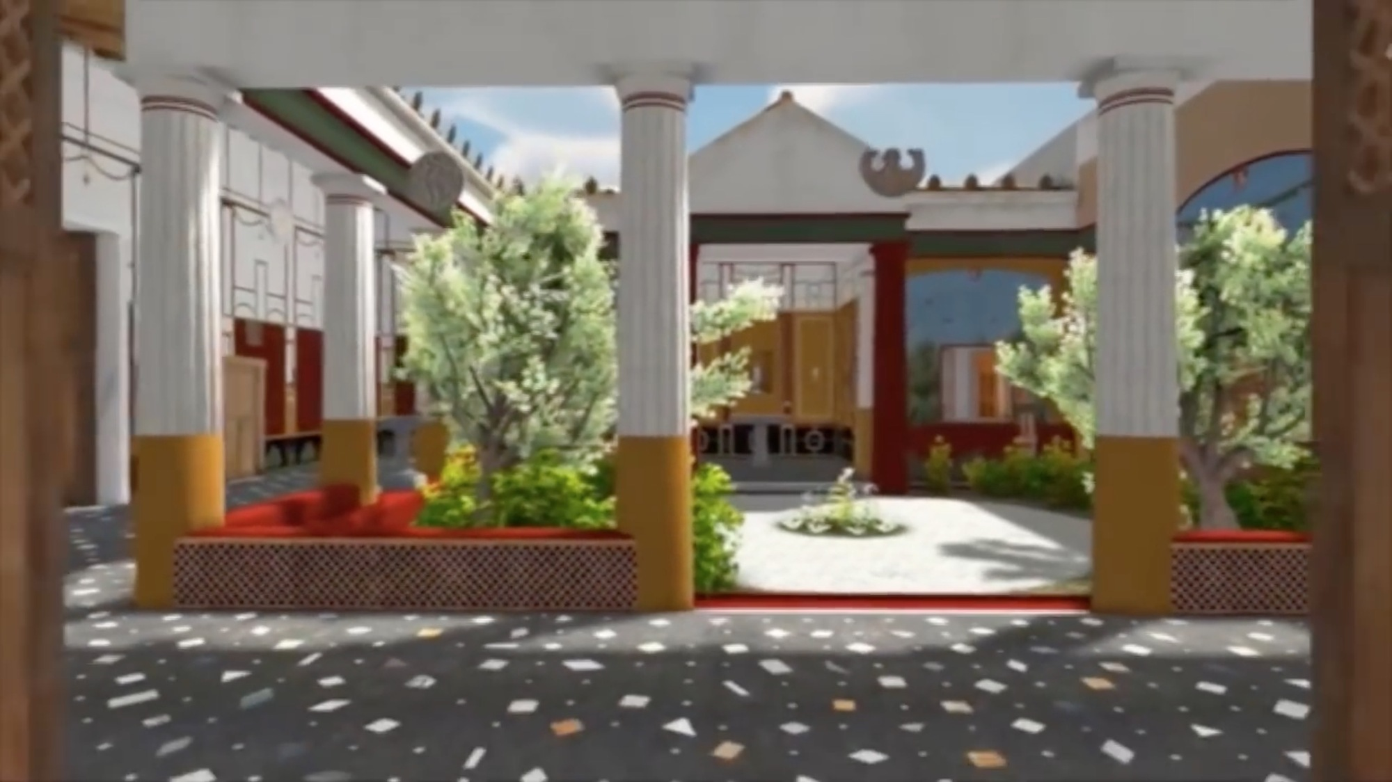 step into this digitally reconstructed house from ancient