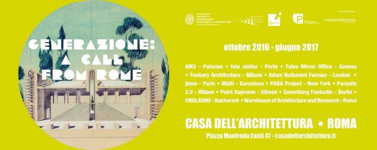 Generazione: a Call From Rome, Generazione: a call from Rome, credit by Alessio Agresta, Jacopo Costanzo, WAR.