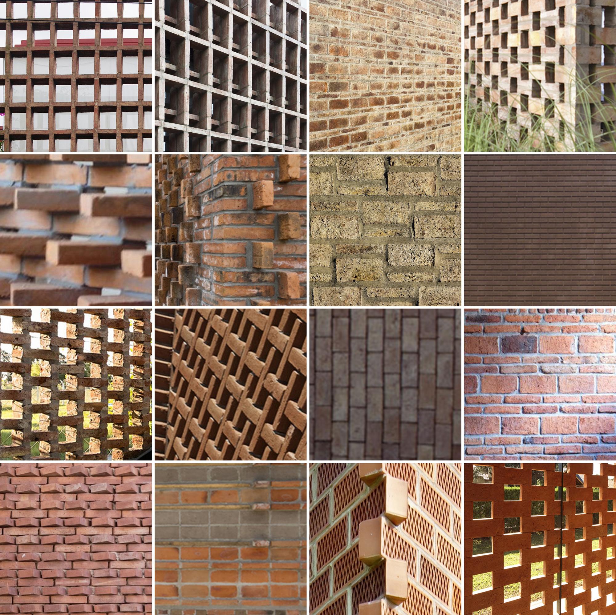 16 details of impressive brickwork archdaily - Tipos de ladrillos huecos ...