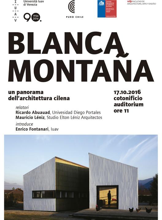'Blanca Montaña. Arquitectura en Chile' en Venecia, Cortesía de Unknown