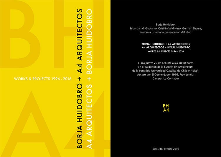 Presentación Libro A4 Arquitectos + Borja Huidobro, Cortesía de Unknown