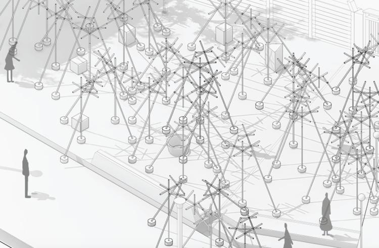 La construcción efímera de Taller Danza, el proyecto colaborativo de estudiantes Celeste! , vía Facundo Pío
