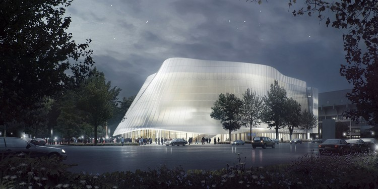 MAD Architects Unveils Design for Translucent China Philharmonic Hall in Beijing, Exterior View. Image Courtesy of MAD Architects