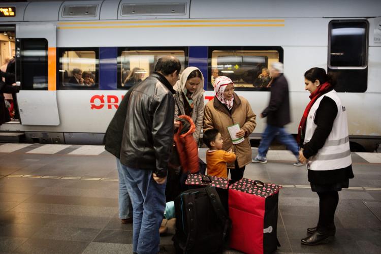 Opportunity Space, New arrivals at Malmö Central Station. Photo: Johan Bävman