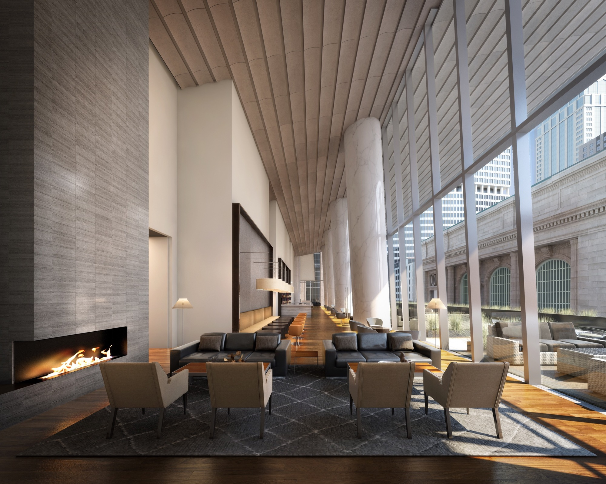 Gallery of new york 39 s future second tallest tower breaks for Interior design building nyc