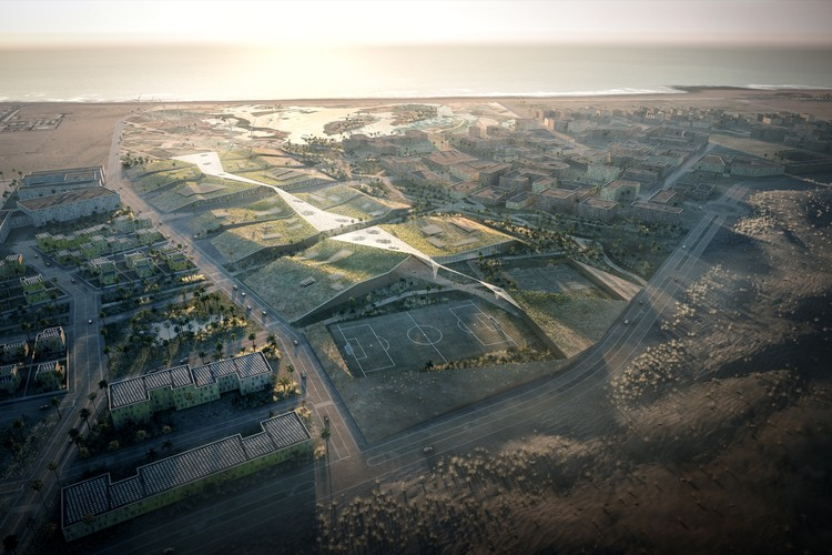 Agence d'Architecture A. Bechu & Associés Wins Competition for New University Campus in Moroccan Oceanside Town, Courtesy of Agence d'Architecture A. Bechu & Associés