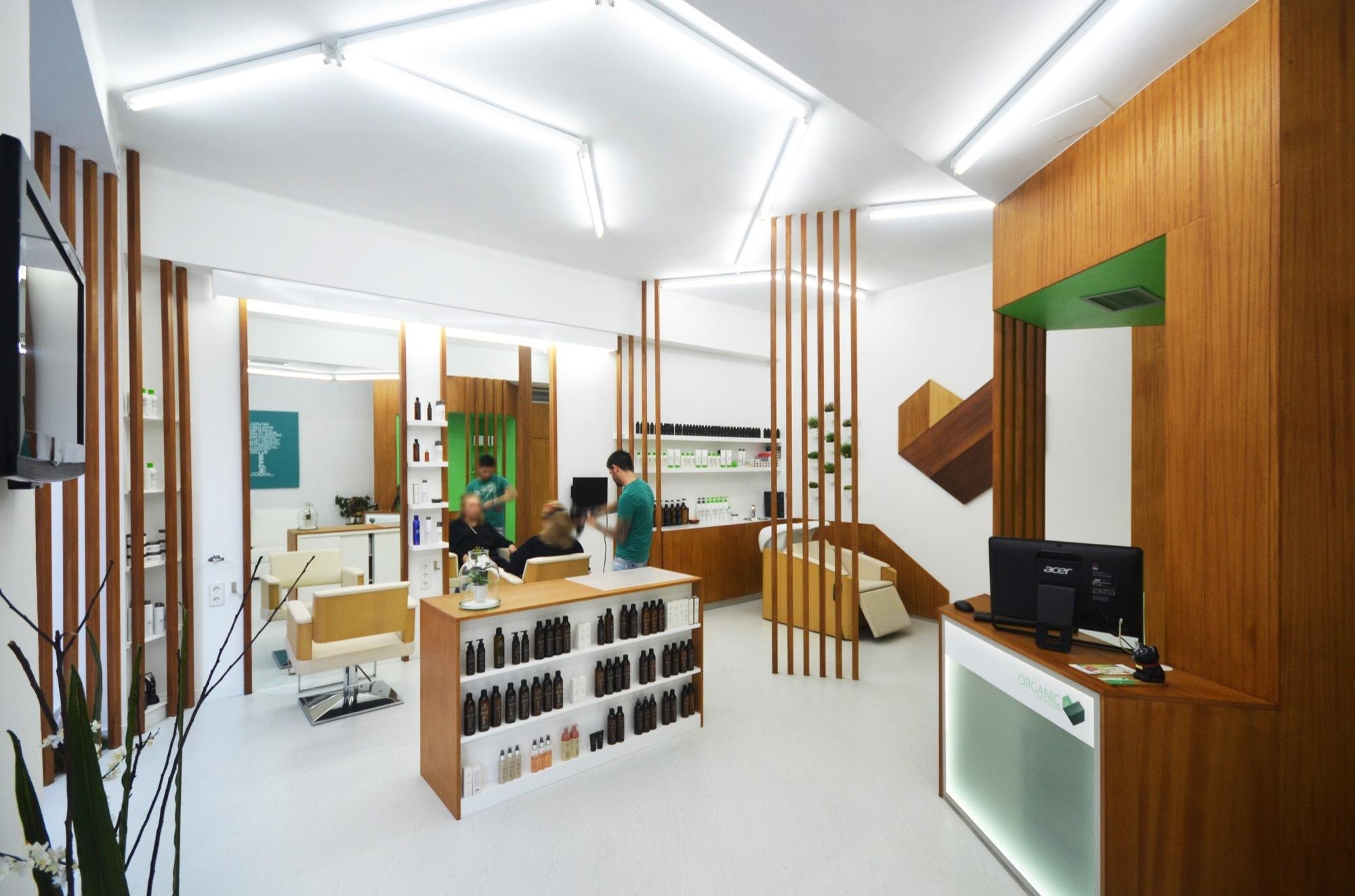 Peluquer a organic liqe arquitectura plataforma for Iluminacion para peluquerias