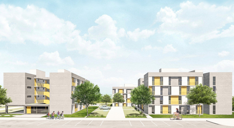 Resultado do concurso nacional de habitação CODHAB/DF / Setor Sol Nascente, Primeiro Lugar. Image Cortesia de CODHAB