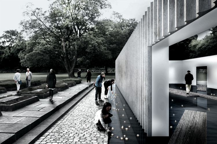 "White Arkitekter A/S Designs Sea-Based WWII Memorial with Moving ""Tides"", Courtesy of White Arkitekter A/S"