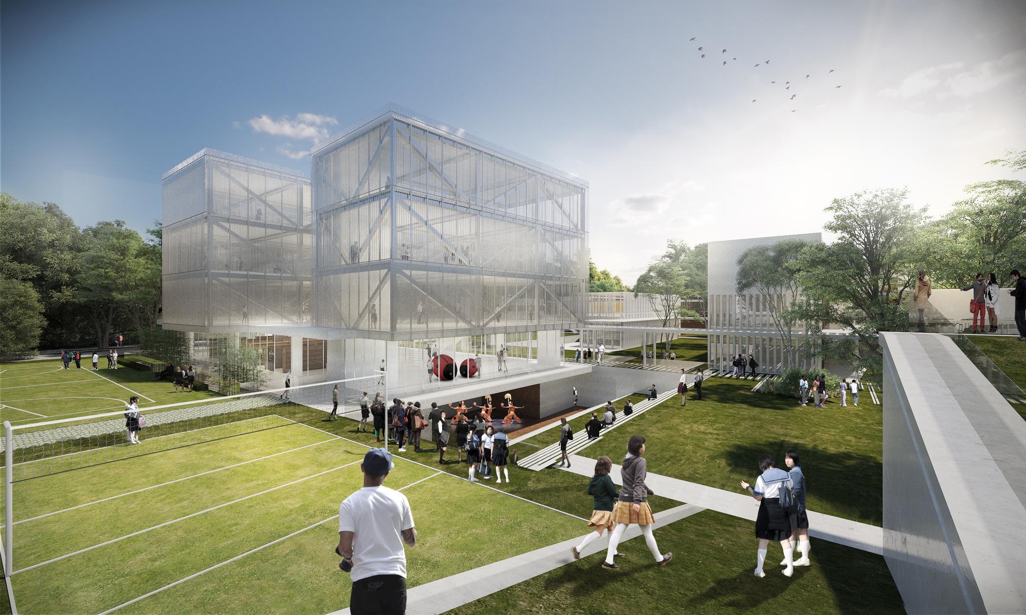 Arquitectura en estudio nieto arquitectos primer lugar for Plantas de colegios arquitectura