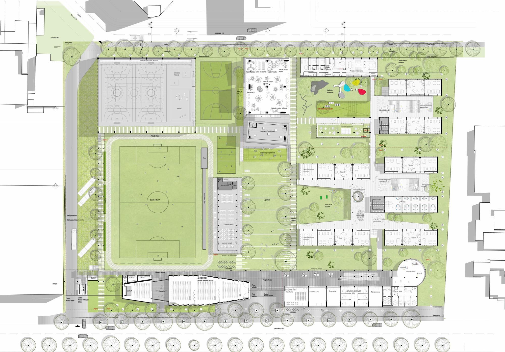 Galer a de arquitectura en estudio nieto arquitectos for Plantas de colegios arquitectura