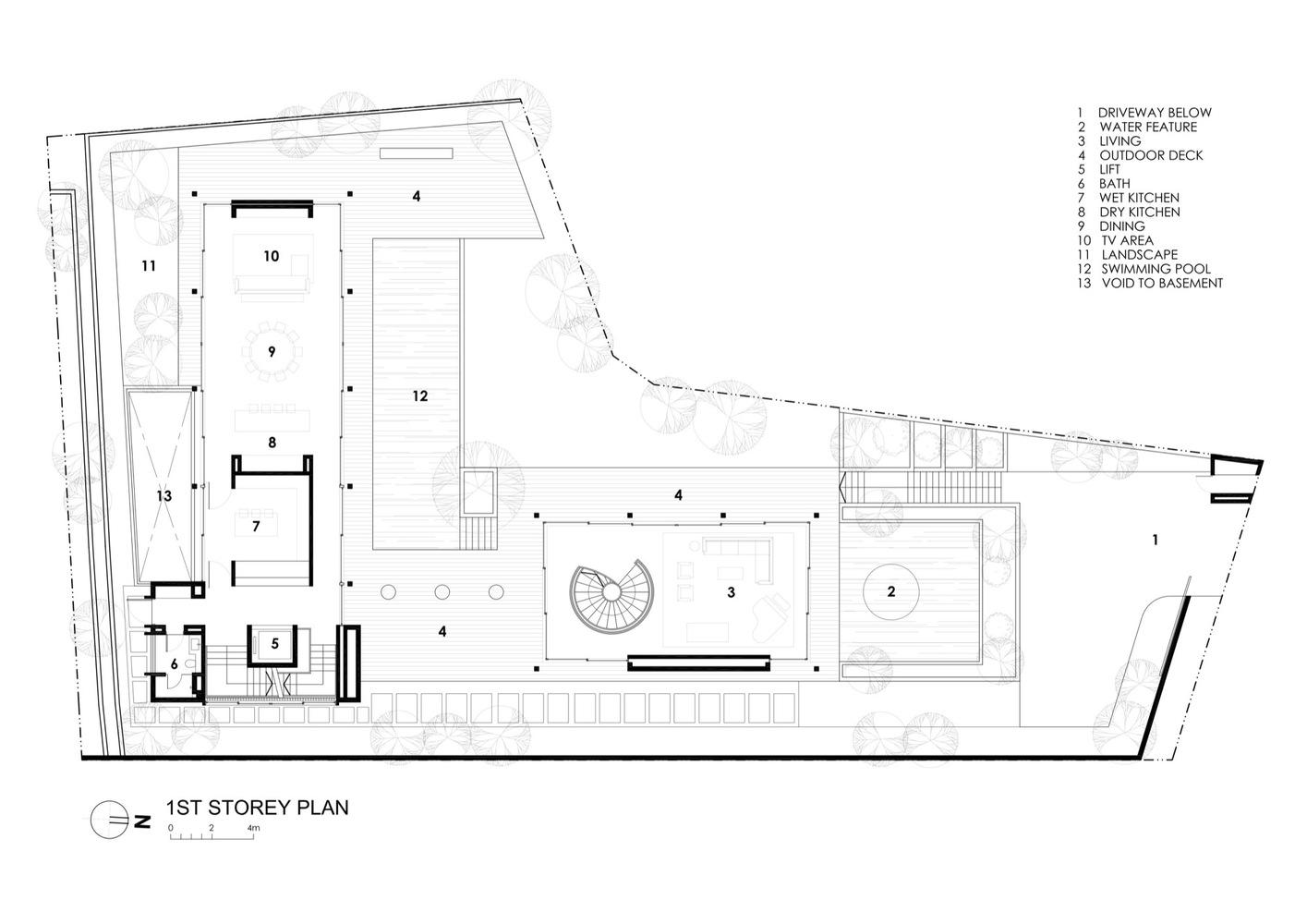 Gallery Of Secret Garden House Wallflower Architecture Design 35 Schematic House1st Floor Plan